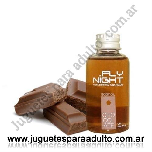 Aceites y lubricantes, Fly Night, Aceite para masajes chocolate 70cc