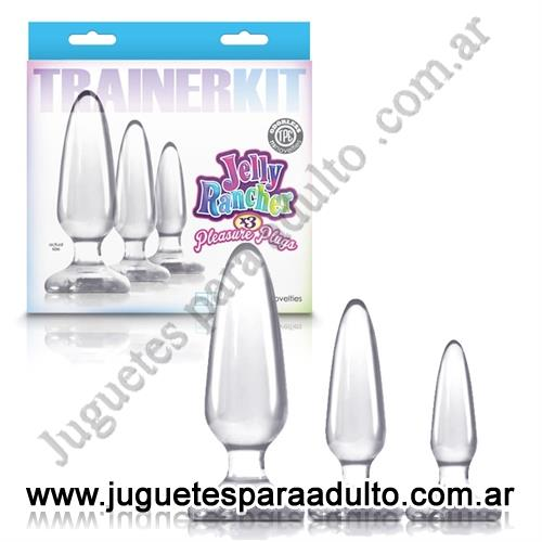 Marcas Importadas, NS Novelties, Kit de plugs anales transparentes